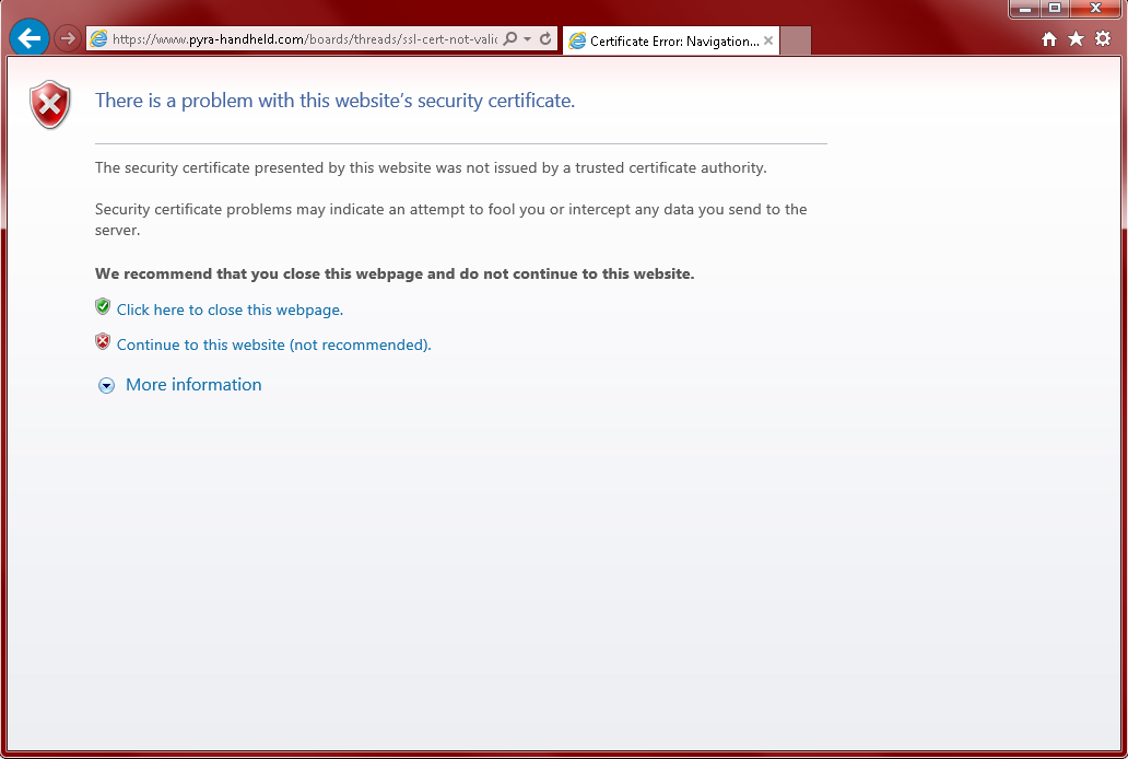 Ssl Cert Not Valid On Bravechrome Android Page 2 Official Pyra